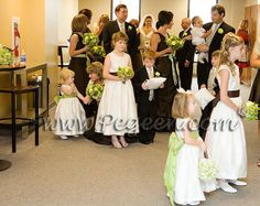 Flower Girl Dresses of the Month in Ivory, Sprite Green and Chocolate Silk Style 398 Green Flower Girl Dresses, Green Flowers, Green Colors, Green Bouquets, Girls Dresses, Flower Girl Wreaths, Flower Girl Crown, Boys Suits, Bridesmaid Dresses