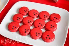 Bowling Party - Oreo cookies dipped in red chocolate