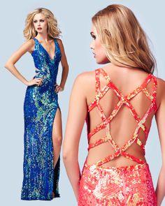 Lattice Back Prom Dress   Mac Duggal 3911A