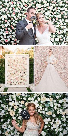 Tło do zdjęć - Ściana z żywych kwiatów lub ziół