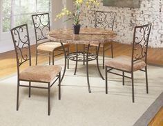 Rachael 5 Piece Table and Chair Set by Largo at Mueller Furniture Side Chairs, Dining Chairs, Dining Table, Dining Room Furniture Sets, Outdoor Furniture Sets, Largo Furniture, 5 Piece Dining Set, Nebraska Furniture Mart, Metal Beds