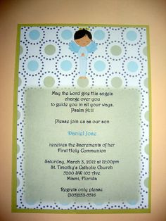 Love the scripture Baptism Party, Baptism Ideas, Boy Baptism, Baby Christening, Baptism Invitations, Party Invitations, March 3rd, First Holy Communion, Baby Ideas