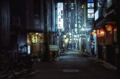 An alleyway in Kyoto at night [20481360] by CedPowder