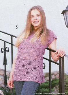 New Crochet Top Pink Free Pattern 61 Ideas Crochet Tunic, Tunisian Crochet, Filet Crochet, Crochet Clothes, Knit Crochet, Crochet Bracelet Tutorial, Crochet Keychain Pattern, Knitting Patterns Free, Free Pattern