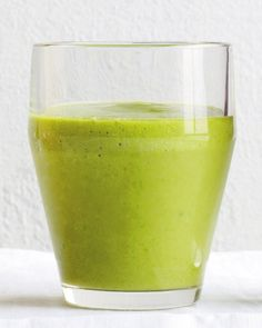 Get your St. Patrick's Day off to a lucky (and healthy) start with a Green Machine smoothie. It gets its natural green hue from spinach, avocado, and a Granny Smith apple.