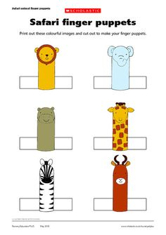 Print out these colorful images and cut out to make your finger puppets and create your own stories and puppet shows.