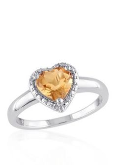 Belk  Co. Yellow Sterling Silver Citrine Ring