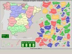 Provincias de España. Crebacabezas fácil