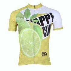 Happy Cycling Summer Fruit Lemon Men s Short-Sleeve Cycling Jersey Suit Biking  Wear Breathable Outdoor Sports Gear Leisure Biking T-shirt Sports Clothes  NO. ... 8029d07f8