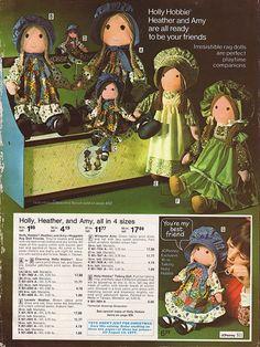 Holly Hobbie dolls, I had a lot!