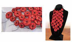 BEGONA RENTERO: Necklace Chicago, Red