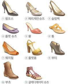 여자구두 종류 Fashion Shoes, Girl Fashion, Fashion Design, Fashion Terms, Fashion Figures, Drawing Clothes, Clutch, Western Outfits, Shoe Shop