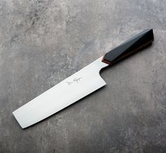 Black Micarta Nakiri 170mm custom chef knife handmade by Don Nguyen.