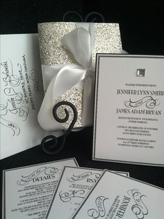 Glamorous Wedding Invitation Vintage Inspired With Hand Written Calligraphy Accents Please Visit And
