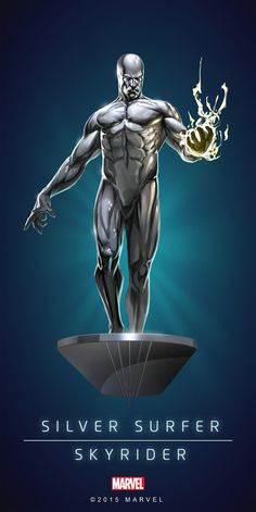 SILVER SURFER (Skyrider) | 5 Stars | Profile Face | Marvel PUZZLE QUEST
