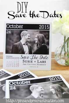 Save The Date Cards With Bride And Groom Standing On Dock With Cute - Free customizable save the date templates