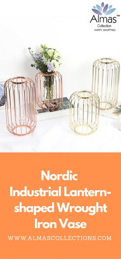 New Wall hanging Nordic Style Iron Frame Vase New Nordic, Nordic Style, Vase, Jewelry For Her, Dinner Sets, Birthday Gifts For Her, Wrought Iron, Gifts For Kids, Lanterns