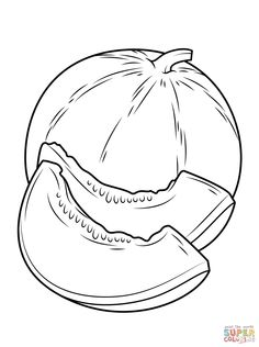 Fruit Coloring Pages, Coloring Sheets, Coloring Pages For Kids, Coloring Books, Animal Drawings, Cool Drawings, Back To School Wallpaper, Planet Crafts, Vegetable Crafts