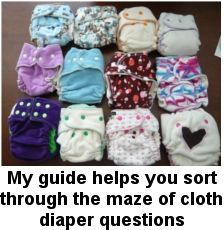 The Ultimate Guide to Cloth Diapers-- considering the switch.  I'll be reading this 80 page guide today to help me decide.