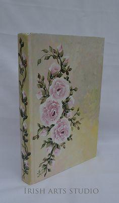 Decorative Book Hand Painted Roses Victorian by IrishArtStudio