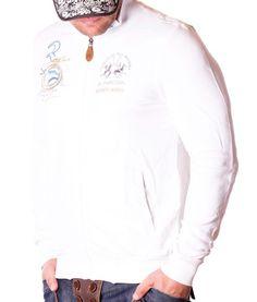 La Martina Buenos Aires Zip Hoodie - White Color: white 2 side pockets La Martina Logo embroidery on the left side of chest La Martina embroidery on. Manga, White Hoodie, Zip Hoodie, Martini, Hoodies, Mens Tops, Designer Clothing, Women, Fashion