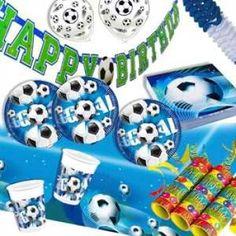 RZOnlinehandel - Partyset Fußball für bis zu 10 Kinder - 55-teilig Party Set, Birth, Kids
