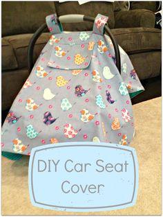 DIY Car Seat Cover Tutorial! Make this adorable Car Seat Cover with this easy DIY tutorial!