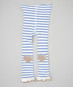 Blue Stripe Heart Footless Tights - Infant & Girls by Naartjie Kids #zulily #zulilyfinds