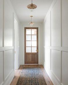 Entry Nook, Entry Hall, Entrance, Mug Design, Inspiration Design, Daily Inspiration, Wall Molding, Moulding, Hallway Lighting