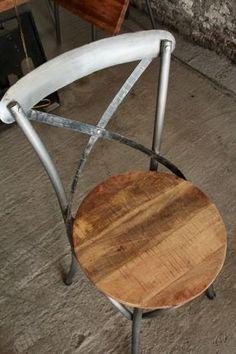 Chaise Bistrot Industrielle Bois Et Metal