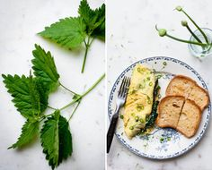 Healthy Spring Brunch Recipe: Nettle Omelet with Scallions   Parmesan | http://hellonatural.co/nettle-omelet-with-scallions-parmesan/