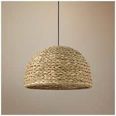 Braided sea grass and a natural finish create earthy appeal for this transitional pendant light. Style # at Lamps Plus. Transitional Pendant Lighting, Contemporary Chandelier, Modern Pendant Light, Hanging Light Fixtures, Pendant Light Fixtures, Hanging Lights, Pool Table Lighting, Beach Lighting, Kitchen Lighting
