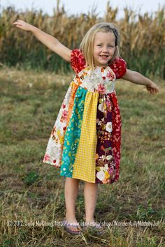 Autumn Harvest Peasant Dress  Size 612 M by WonderfullyMadebyJul, $36.00