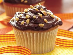 Peanut Butter Cupcakes with Chocolate Frosting = these taste just like a reese's peanut butter cup