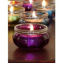 Purple Glass Tealight Holder €1.95 www.dressmyhome.ie