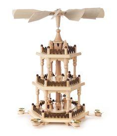 Pyramide 3-stöckig mit Christi Geburt - Mehrstöckige Pyramiden - online einkaufen | Dregeno Online Shop