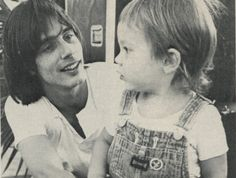 Jackson Browne and son Ethan, Photo by Barry Shultz 1977.