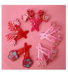 AKOAK 5 Pairs Cute Peppa pig Hair Clips Bows and Hairpin / Headwear, Bob Pins, Hair Jewelry, For Baby and Toddler and Children and Girl >>> Be sure to check out this awesome product.