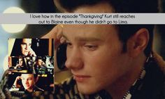 I've said it numerous times - this phone call was a tiny ray of hope during the hell that was season 4.  And the fact that it was Kurt who reached out to Blaine meant that much more.