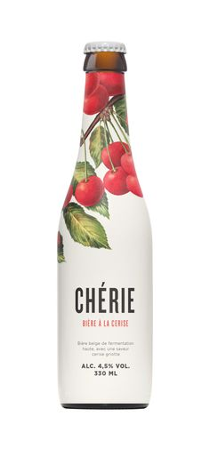 Chérie Illustrated Bottle Label Packaging Design