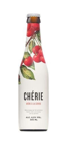 Chérie Illustrated Bottle Label Packaging Design