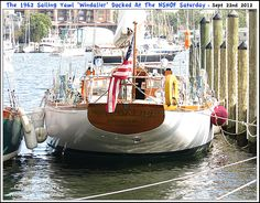Picture Of The Sailing Yawl Windalier At The 3rd Annual Classic Wooden Boat Rendezvous & Race In Annapolis Maryland September 22nd and 23rd 2012