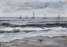 Beach Painting, Santa Barbara, California Landscape Painting