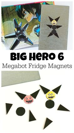 Kid Crafts | Big Hero 6 Megabot Fridge Magnets - These would be fun to make at a Big Hero 6 themed birthday party!