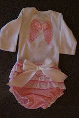 Angel onesie and ruffled diaper cover