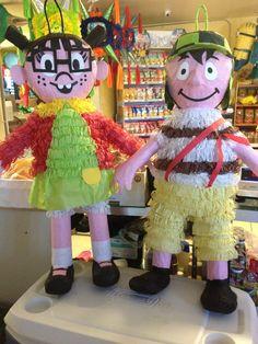 Piñatas: la chilindrina y el chavo.