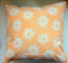 70s fabric cushion made by Gillyflower 2012