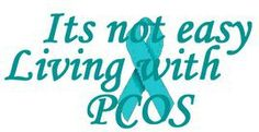"PCOS ~""It's easy to assume someone is overweight because she overeats. That she doesn't know how to say no to junk food and doesn't care about her health. Couldn't be further from the truth. PCOS works against the female body, it makes it extremely difficult to lose the weight but oh so easy to gain it. Especially in the midsection!"""