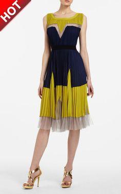 3b211422511e BCBG Lucea Colorblocked Short Pleated Sleeveless Max Azria Dress [BCBG  Lucea Colorblocked Max Azria Dress] - $168.00 : Cheap herve leger and BCBG  dresses on ...