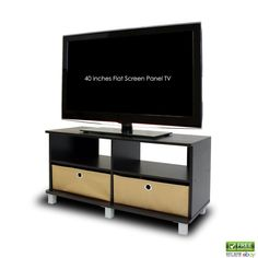 Furinno TV Stands Entertainment Center Drawers Home Theater Systems Espresso #Furinno